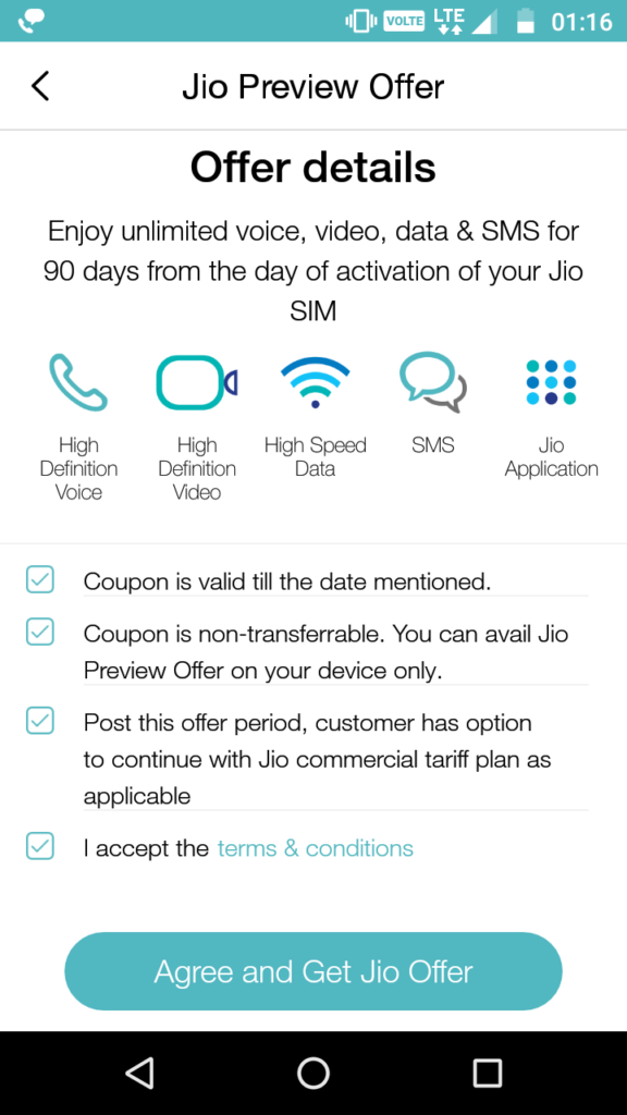 Get JIO offer, coupon code