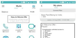 JIO welcome offer 4 GB data limit