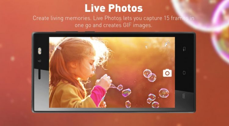 Xolo Era 1X Live Photos Feature