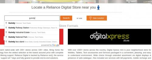Jio Digital store locator