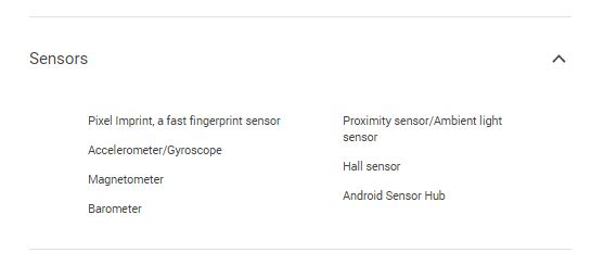 specifications of google pixel