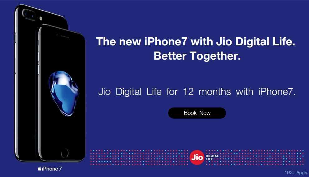 Jio iPhone Offer 2017: Free Jio 4G data and calling for 1 year