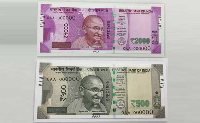500 and 1000 rs new notes