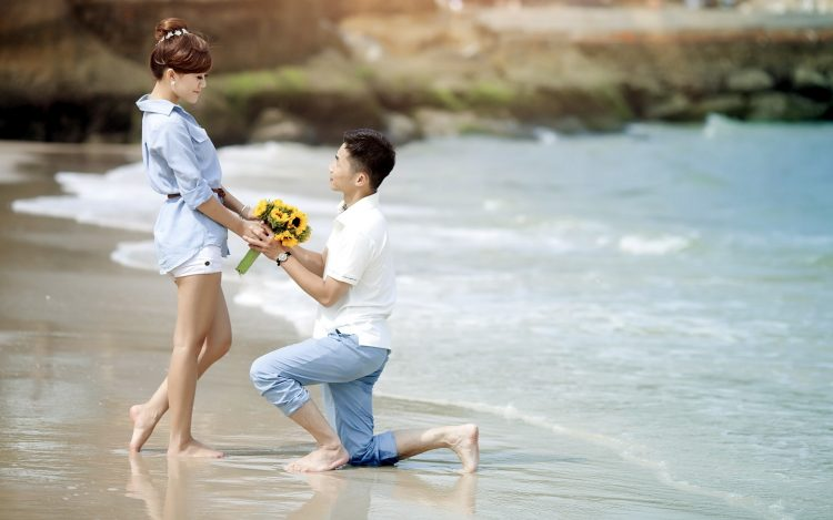 Propose Day Image with Flowers and Rings