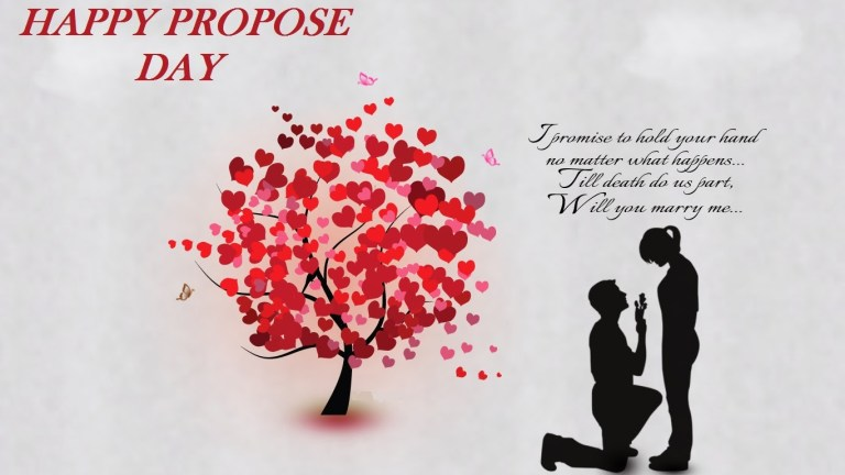 Propose day couple images