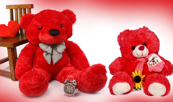 Red Teddy Bear Day Image