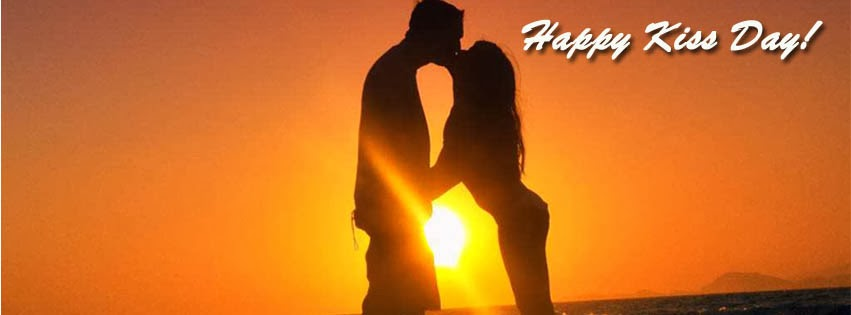 Happy Kiss Day FB cover photo