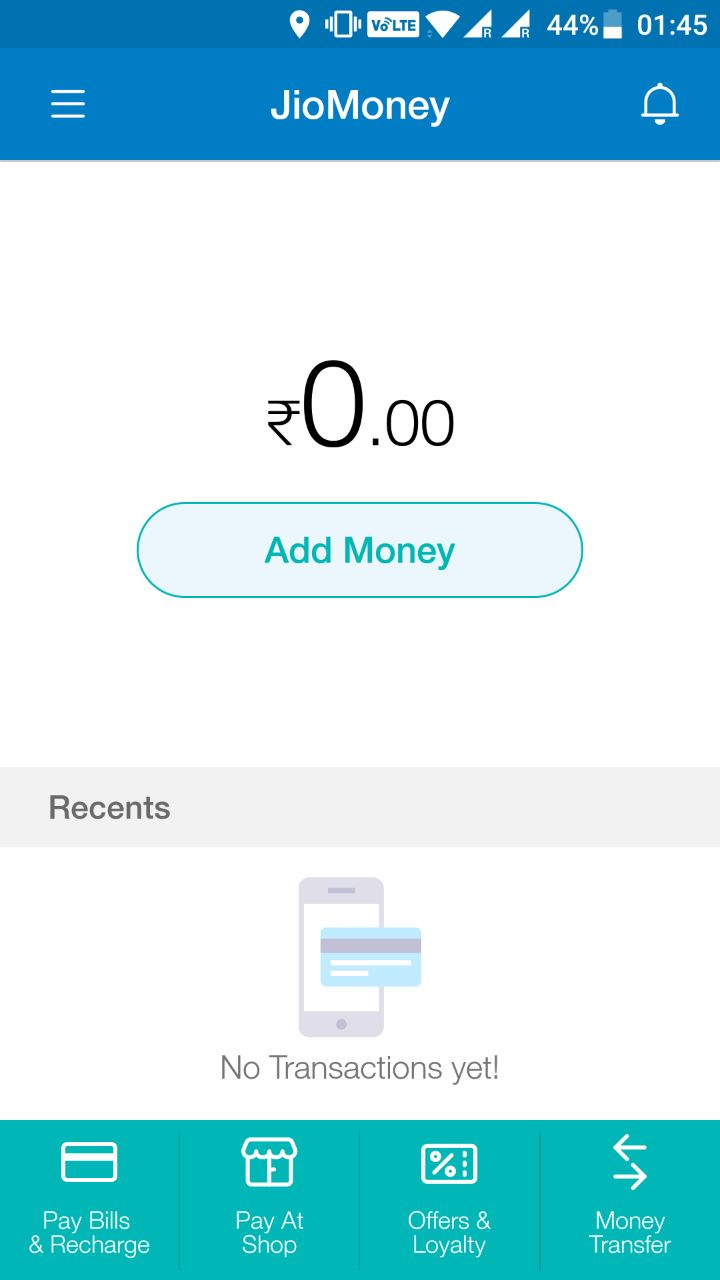 Add Money to JioMoney wallet