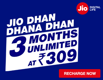 Jio Dhan Dhana Dhan offer Unlimited 3 months