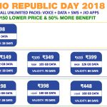 Jio Republic Day offer – Recharge Online