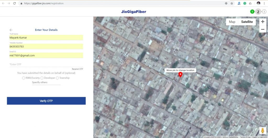 How to register for Jio GigaFiber boradband connection