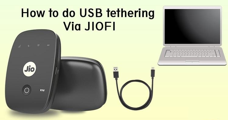 How to tether JioFi hotspot device to PC